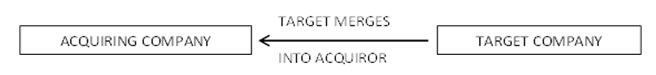 Direct statutory merger of the target company into the acquiring company