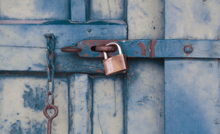 A lock on a door, symbolizing the simple agreement for future equity for seed-stage startups