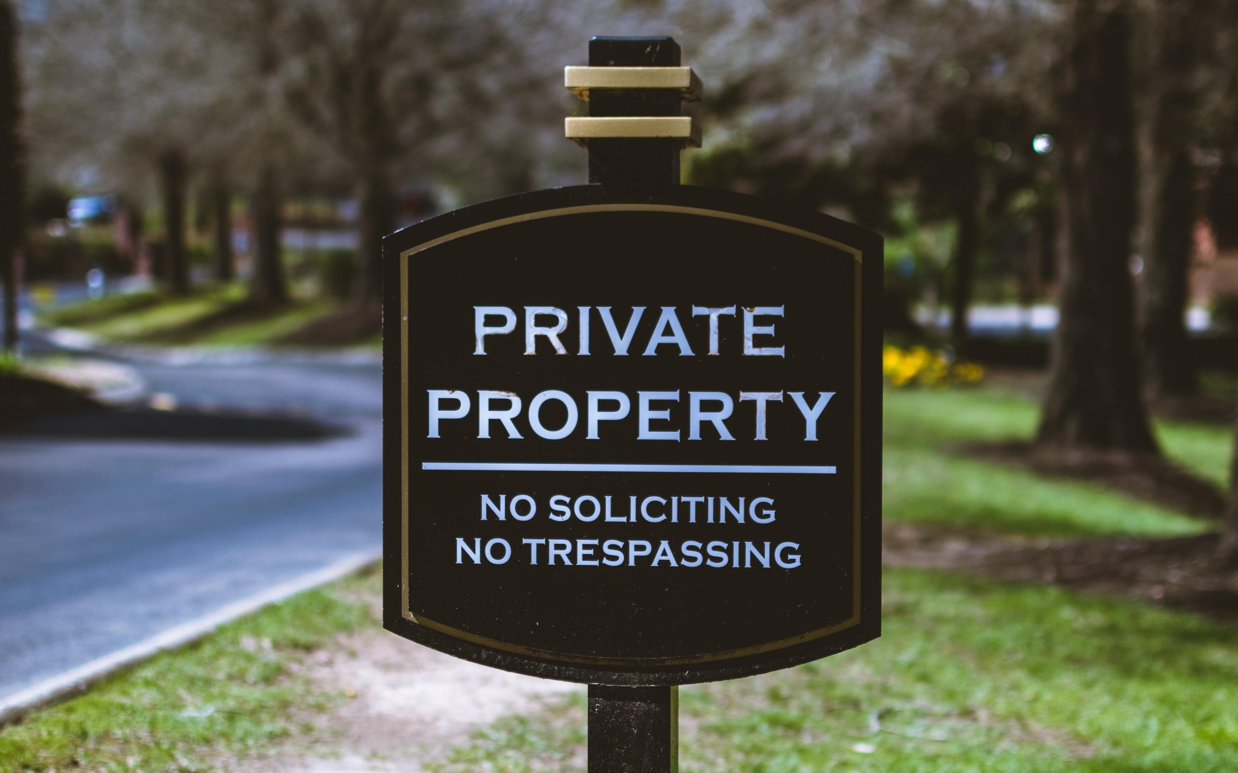 Private Property sign, symbolizing the exclusive aura around PE investments