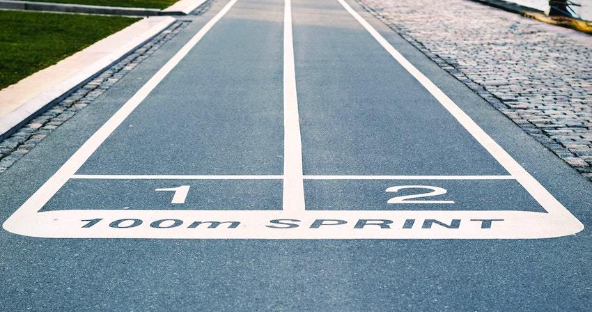 track and field events, symbolizing private markets