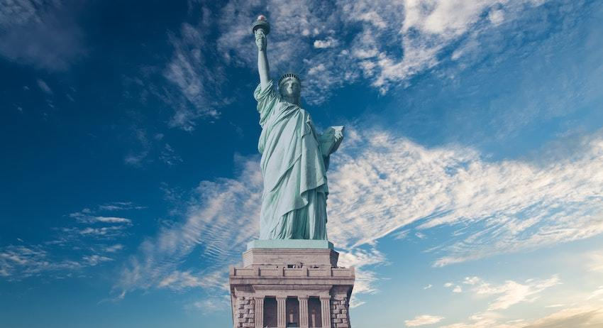 Statue of Liberty, representing famous supreme court cases