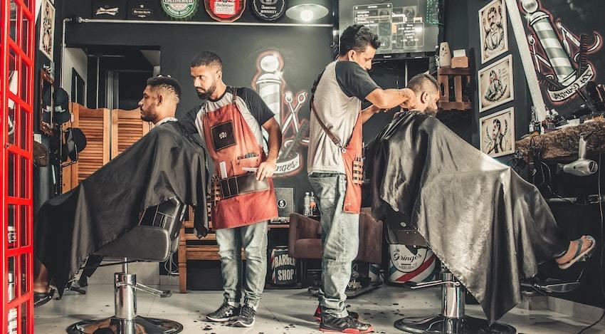 barbershop representing small business investing