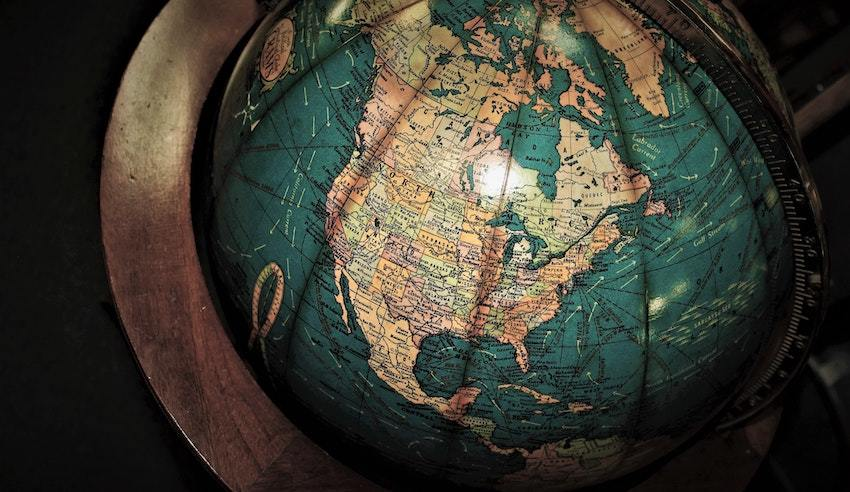 A globe, representing global trends in megatrend investing