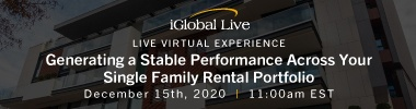 iGlobal - Generating a Stable Performance Across Your Single Family Rental Portfolio - 12/15