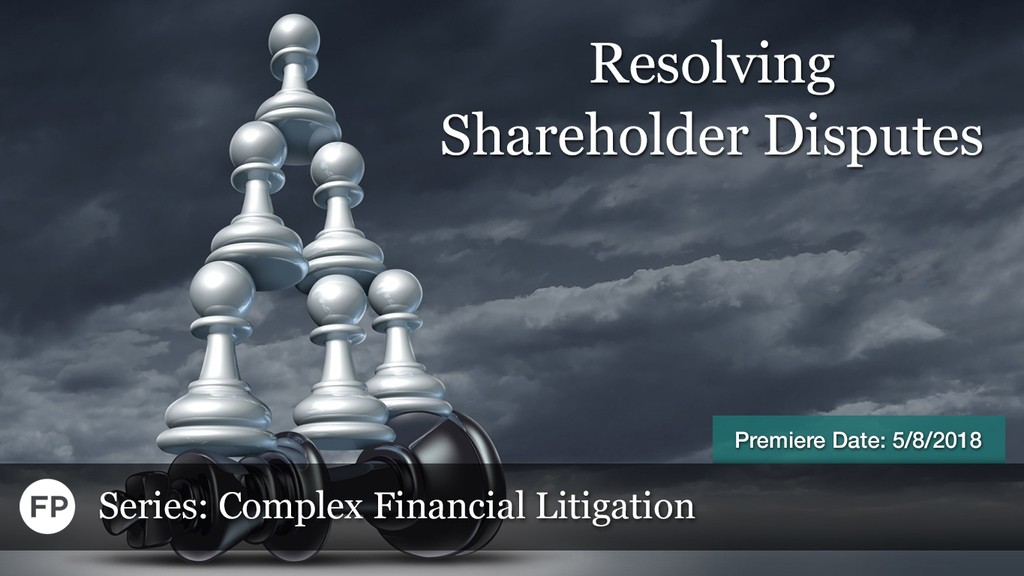 Complex Financial Litigation - Shareholder Disputes