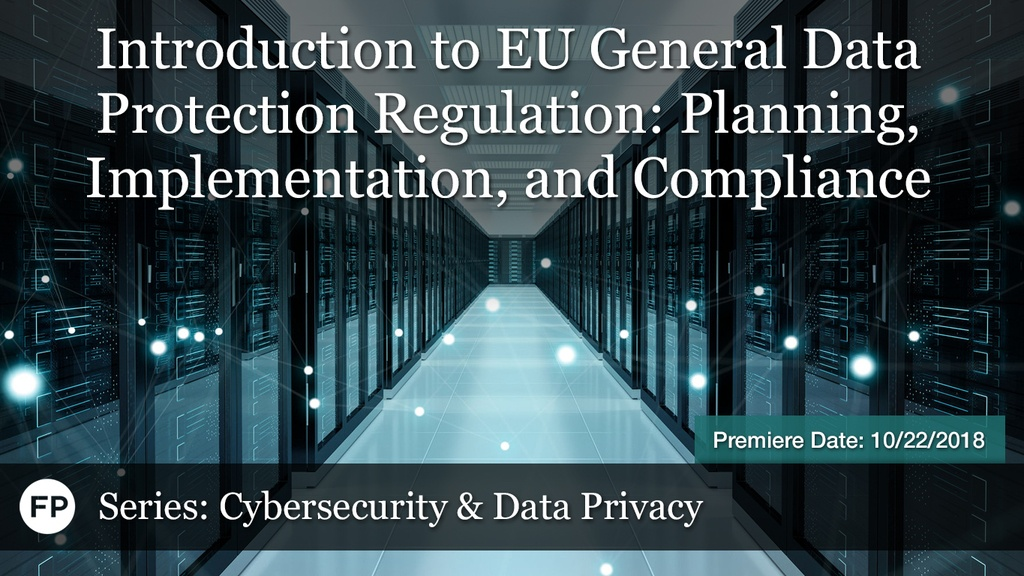 Cybersecurity - Intro to EU Regs