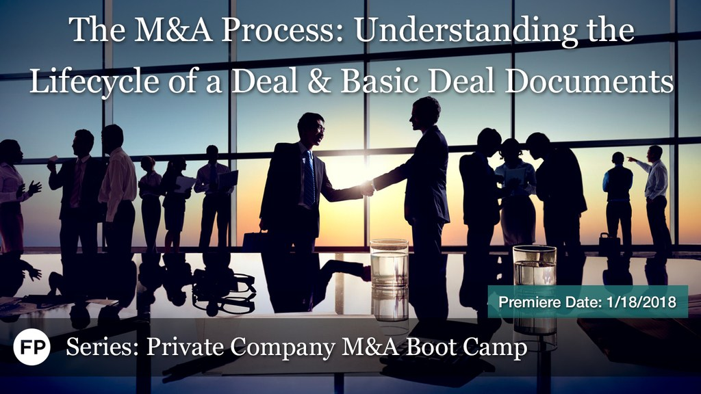 M&A Boot Camp - M&A Process