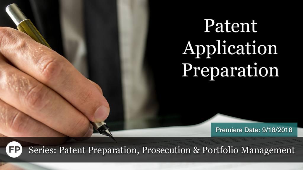 Patent PPP - Application Preparation