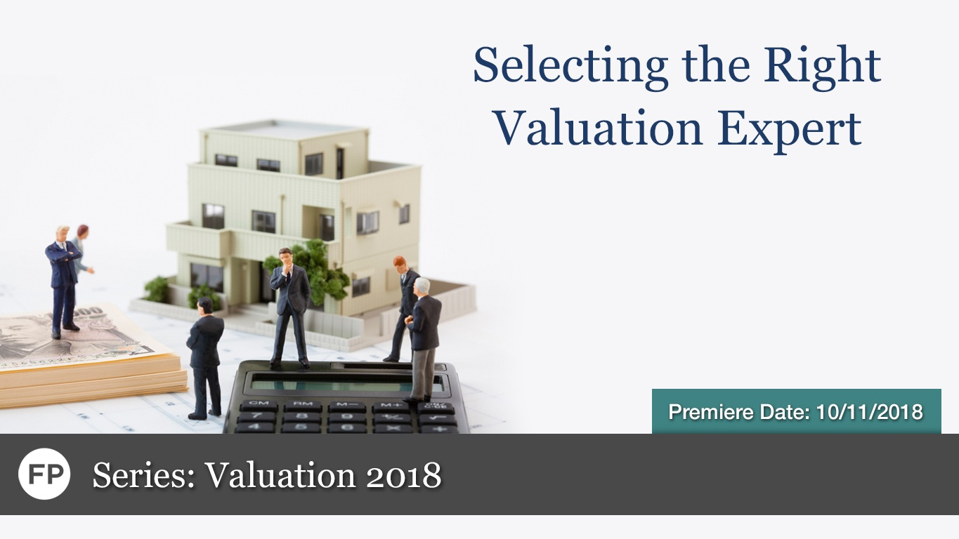 Valuation - Selecting Valuation Expert