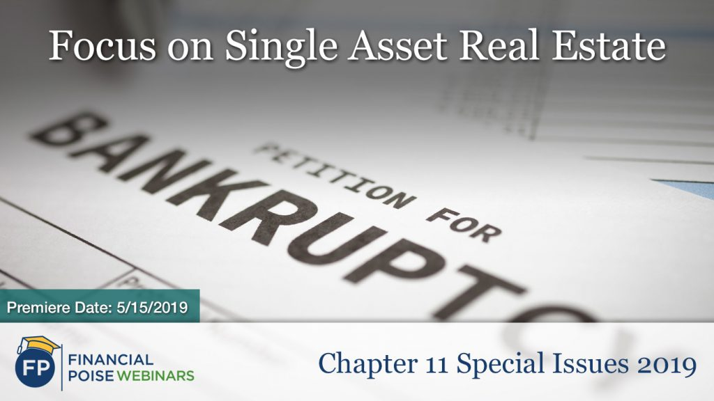 Chapter 11 Special Issues 2019 - Single Asset Real Estate