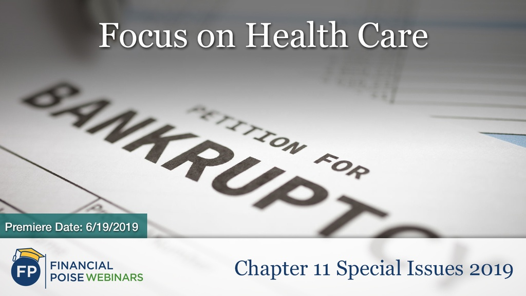 Chapter 11 Special Issues 2019 - Health Care