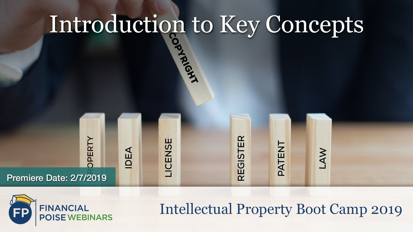 IP Bootcamp 2019 - Intro to Key Concepts