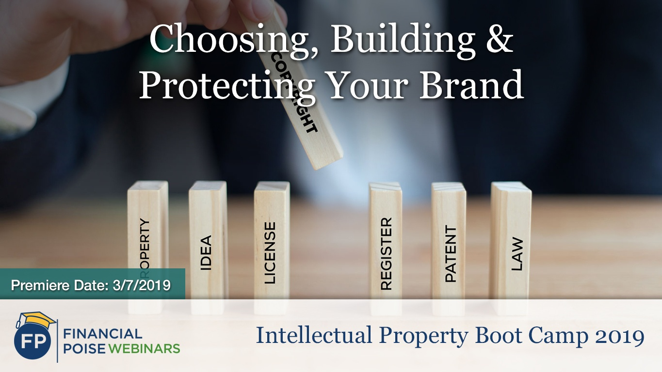 IP Bootcamp 2019 - Choosing Bulding Protecting