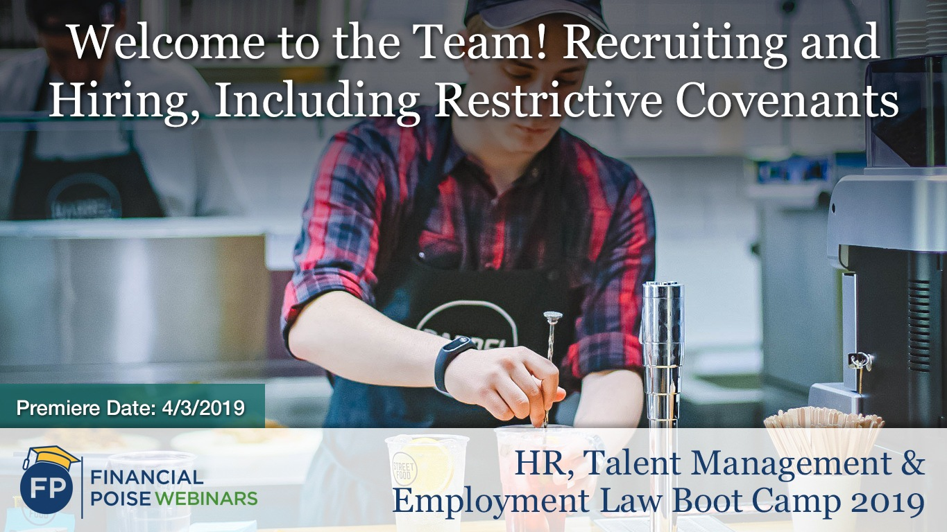 HR Employment Law Boot Camp - Welcome to the Team