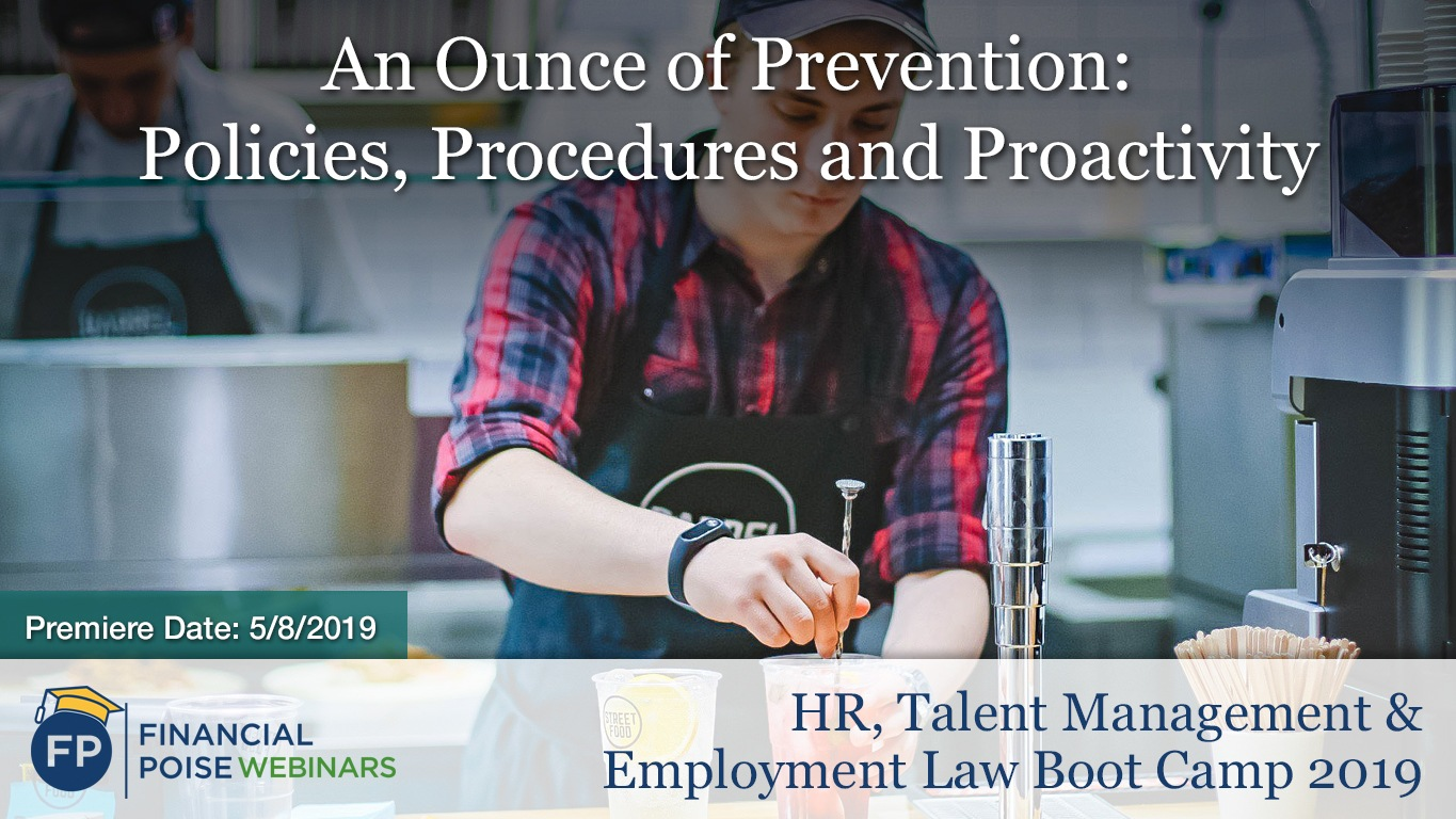 HR Employment Law Boot Camp - Ounce of Prevention