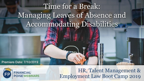 HR Employment Law Boot Camp - Time for a Break