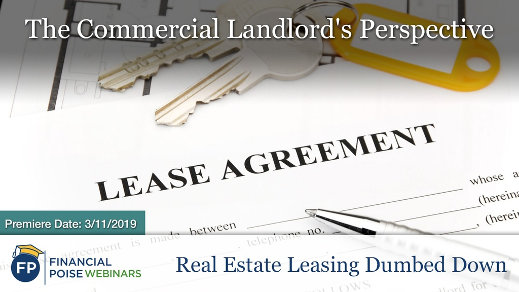 Real Estate Leasing - Landlords Perspective