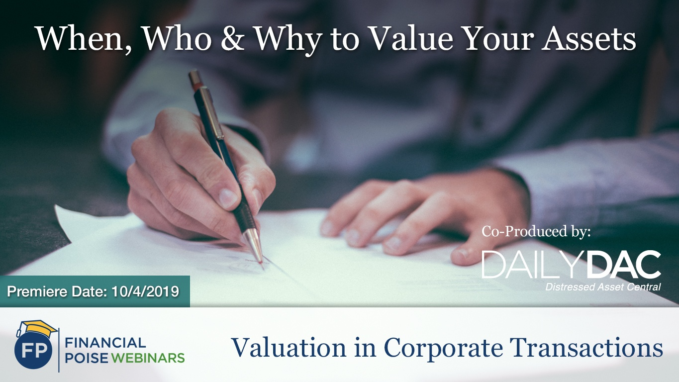 Valuation in Corporate Transactions - When Who Why