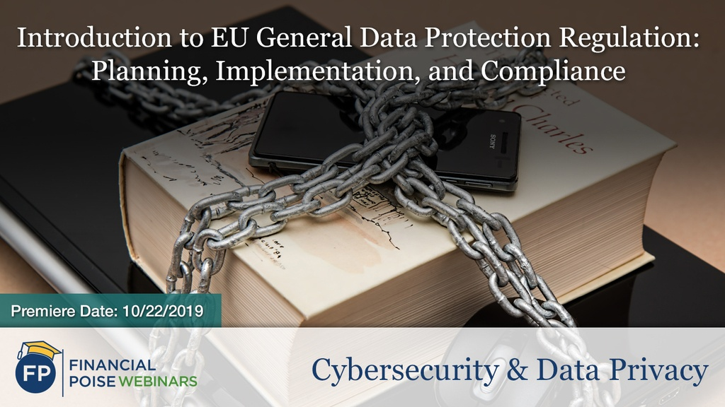 Cybersecurity Data Privacy - Intro to EU