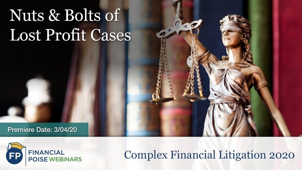 Complex Financial Litigation - Lost Profit Cases