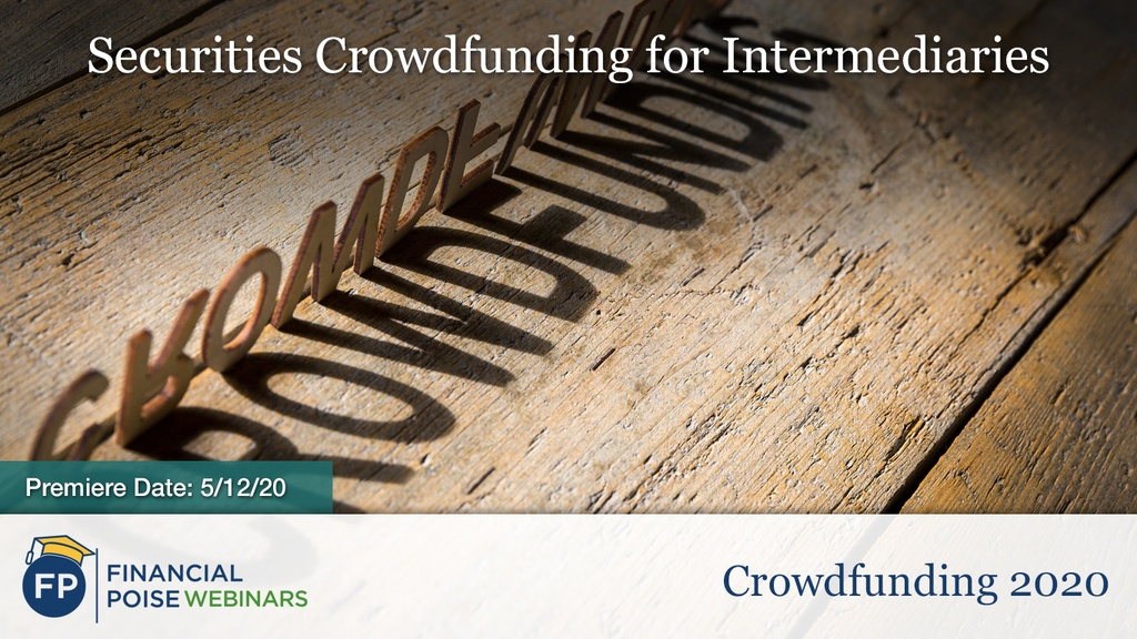 Crowdfunding - Securities Crowdfunding