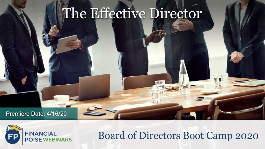 Board of Directors Boot Camp - Effective Director