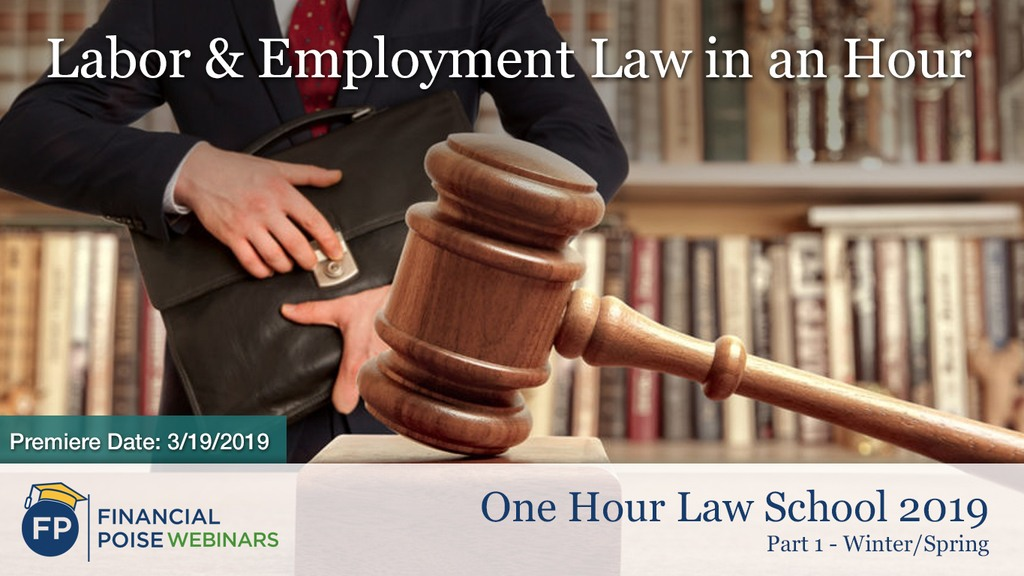 Labor & Employment Law in an Hour 2019