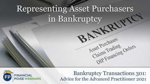 Bankruptcy Transactions - Representing Asset Purchasers