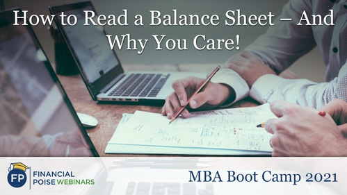 MBA Boot Camp - How to Read Balance Sheet