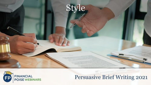 Persuasive Brief Writing - Style