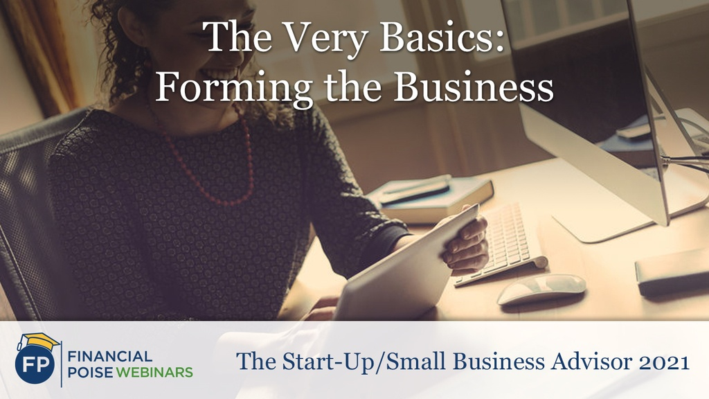 Start Up Small Business Advisor - Forming the Business